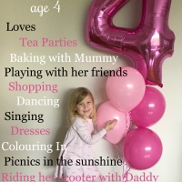 Ellie's fourth birthday